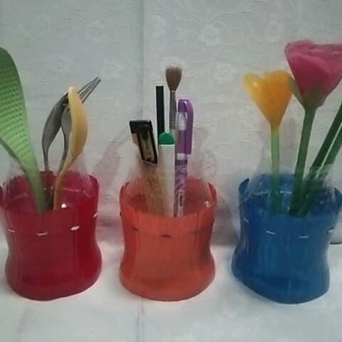 Jual Daur Ulang Botol Plastik Tempat Pensil Sendok Vas Pot Bunga Kab Bogor Dian Shop99 Tokopedia