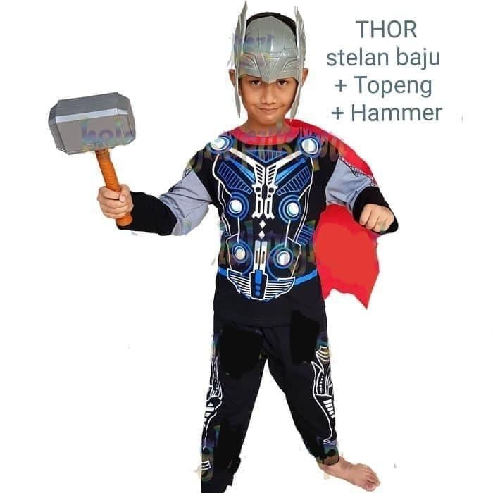 Foto Produk Baju Kostum Topeng Anak Superhero Thor Avenger Avengers - Size 16 - 8 thn dari BelalangKupuKupu