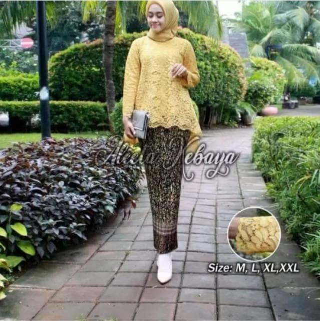 Jual Kebaya Wisuda Warna Abu Merah Gold Putih Coksu Pink Setelan Kebaya Jakarta Pusat Ainot Shop Tokopedia