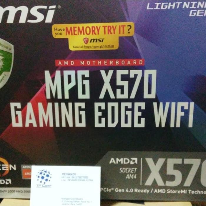 Jual MSI X570 MPG Gaming Edge Wifi (AMD X570,AM4,DDR4) For Ryzen 3rd Gen -  DKI Jakarta - tf com | Tokopedia