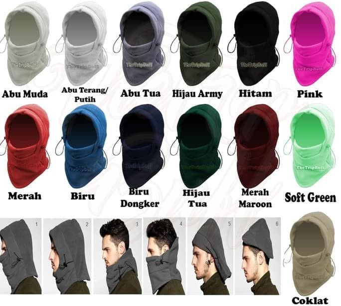 Foto Produk Termurah Masker Polar Balaclava Plava Warna Abu - Abu Scraff Ninja dari kamaluddinahmad