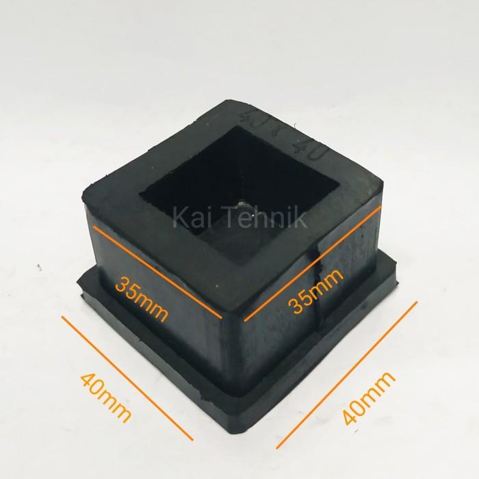 Foto Produk Karet kaki kotak kursi atau tutup besi holo 40 mm x 40 mm dari Kai Tehnik
