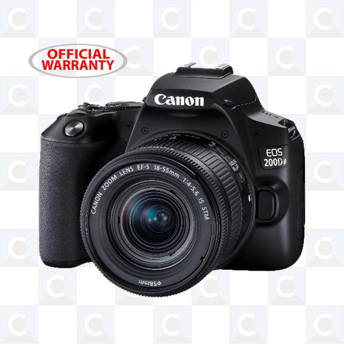 harga Canon eos 200d ii ef-s 18-55mm f/4-5.6 is stm - black Tokopedia.com
