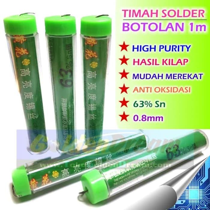 Foto Produk Timah Solder Botol 1m 0.8mm Glossy Finish High Purity Tin Wire Kilap dari VISITEK