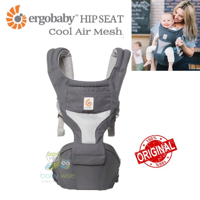 Jual Original Ergobaby Hipseat Cool Air Mesh Carrier Carbon Grey Kota Tangerang Selatan Baby Wise Tokopedia