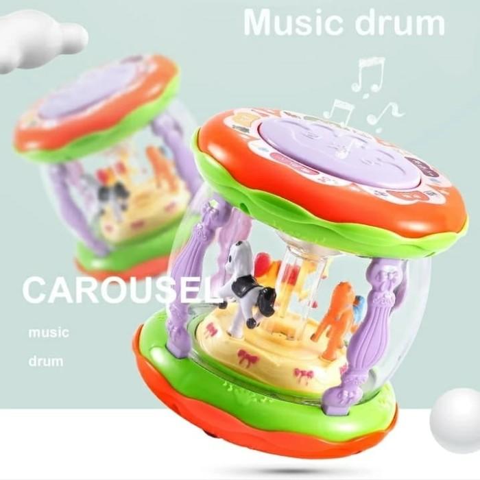 harga Mainan anak carousel mini wonderland merry go round music drum Tokopedia.com