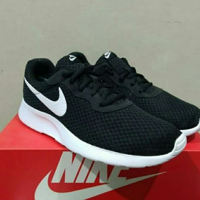 wyprzedaż ze zniżką super słodki moda Jual Sepatu Ori Nike Tanjun ORIGINAL Black Hitam putih pria wanita - Hitam,  41 - Kota Depok - Streetshoes | Tokopedia