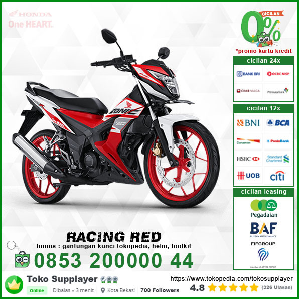 Jual Sepeda Motor Honda Sonic 150 Racing Red Murah