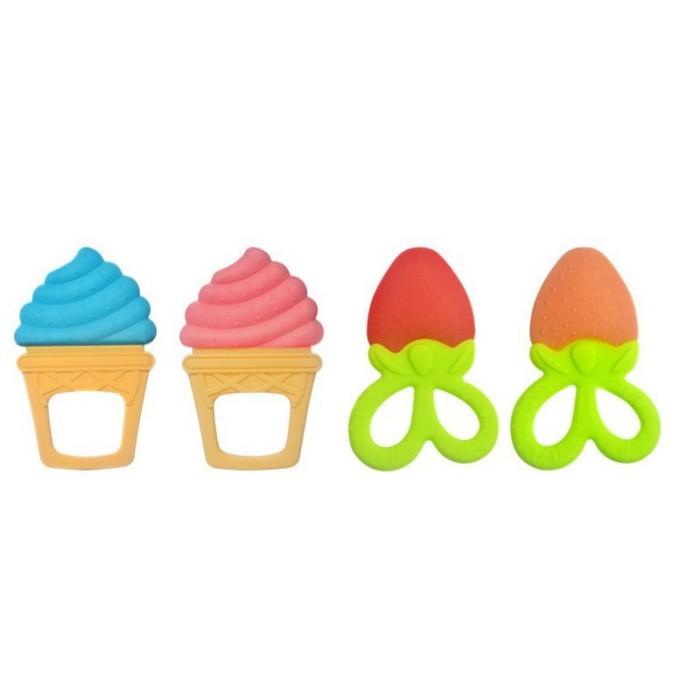 Jual Mainan Teether Silikon Bentuk Es Krim Kartun Lucu Untuk Bayi
