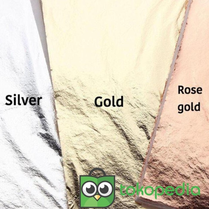 Jual PnS - Foil leaf gilding sheet kertas foil sepuh emas silver rosegold -  DKI Jakarta - PIRING SENDOK GARPU | Tokopedia