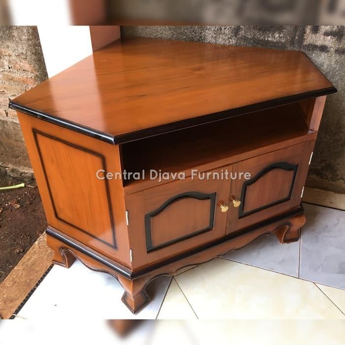 Jual Bufet Sudut Pojok Meja Tv Kayu Jati Buffet Nakas Furniture Jepara Dki Jakarta Jaya Furniture 2 Tokopedia