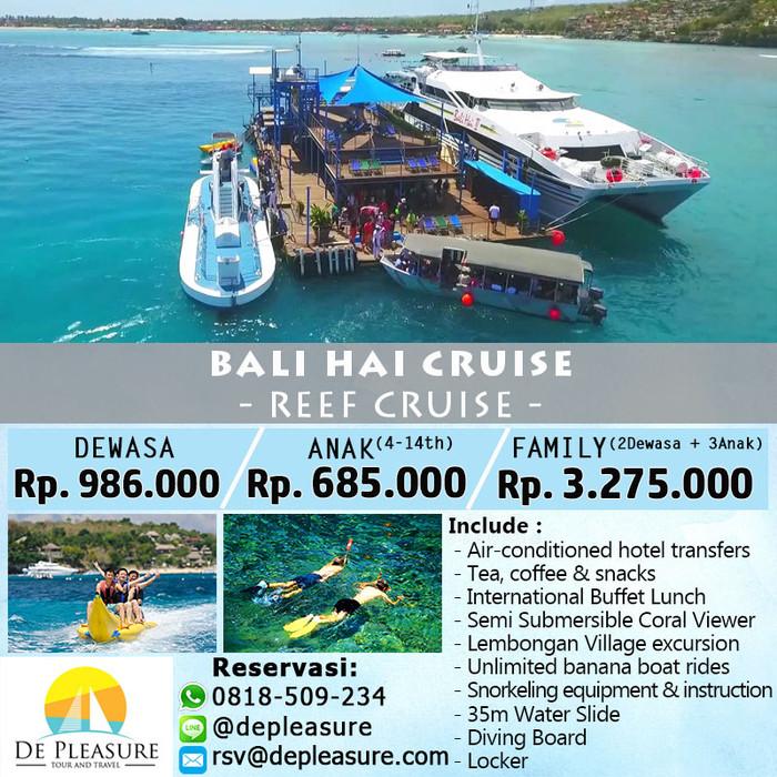 Jual Voucher Tiket Bali Hai Reef Cruise Untuk Keluarga Kota Denpasar De Pleasure Tours Tokopedia