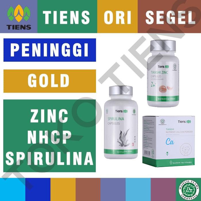 Foto Produk Tiens / Tianshi PAKET PENINGGI BADAN GOLD |+ Spirulina dari TokoTiens Olshop