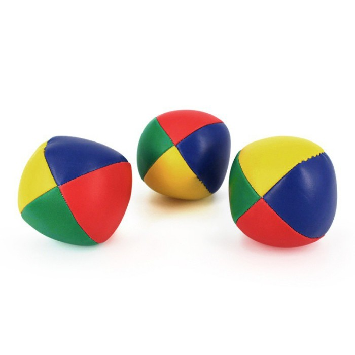 Foto Produk 3Pcs Set Bola Juggling Ukuran 5Cm Warna-warni untuk Anak Pemula Belaja dari Random Shop O