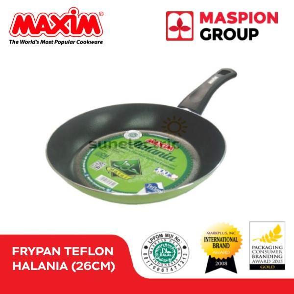 harga 26 cm halal certified teflon non-stick coated frypan maxim   halania Tokopedia.com