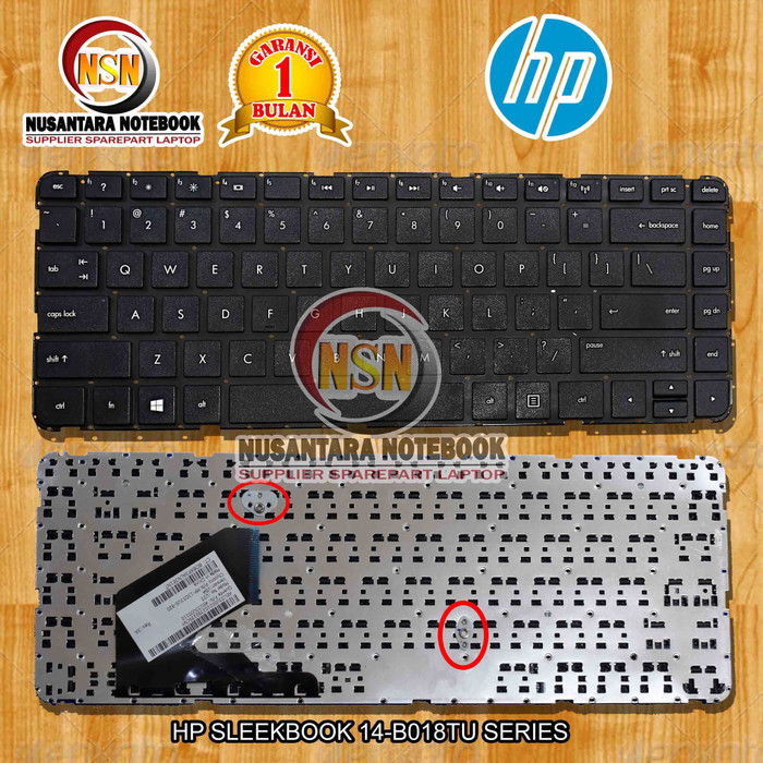 Foto Produk Keyboard Laptop HP Pavilion Sleekbook 14-B009AU Warna Black Hitam dari Nusantara Part Laptop