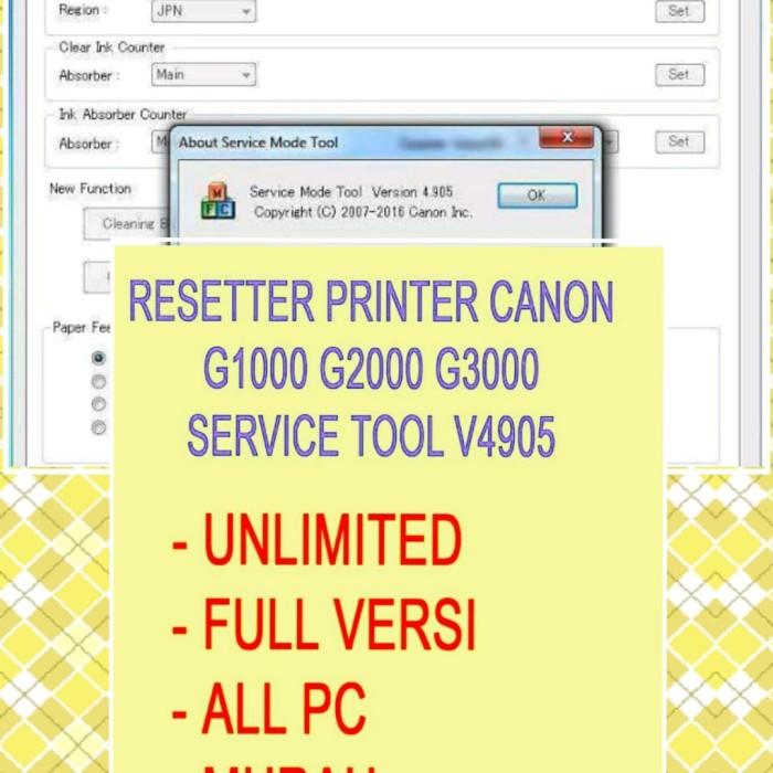 Jual ST4905 full version all pc - Resetter Canon G1000 G2000 G3000 G4000 -  Kab  Banjar - elmadinafotocopy | Tokopedia