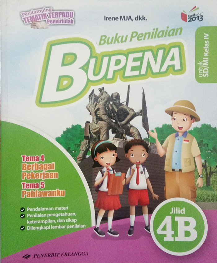 Jual Buku Sd Bupena 4b Sd Kls 4 Tema 4 5 Jakarta Pusat Jaya Wija Tokopedia