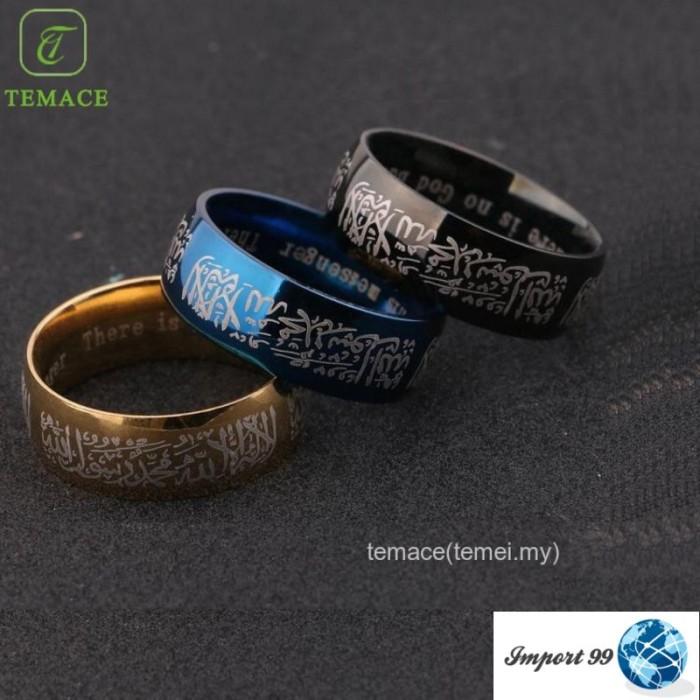 Jual Barang Import Cincin Islami Tauhid Kaligrafi Arab Syahadat Bisa Dki Jakarta Meinita Store Tokopedia