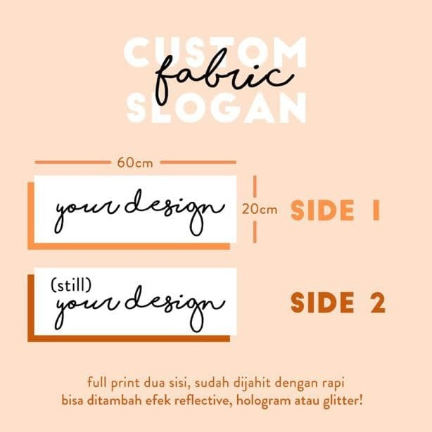 Jual # Custom Fabric Slogan Kpop - DKI Jakarta - Sparjo Id | Tokopedia