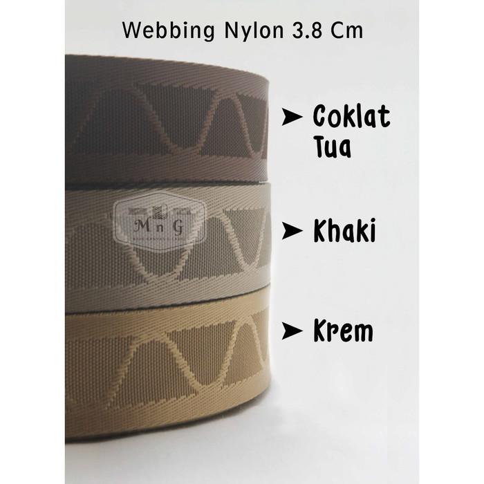 Jual Webbing 3 8 Nylon Motif Mountain Meteran Coklat Tua Kota Bekasi M G Kain Kanvas Tokopedia