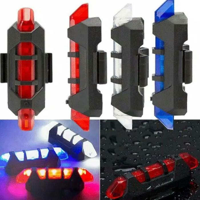 Foto Produk Lampu Belakang Sepeda USB LED RECHARGEABLE UNTUK 1PCS IMPOR MURAH dari asyouwish.pomade