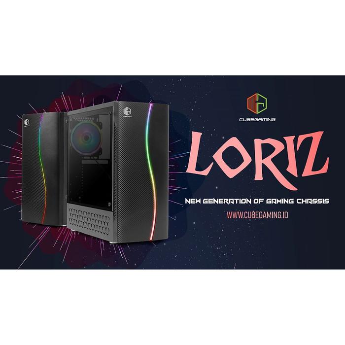 Jual Cube Gaming Loriz Side Tempered Glass Free 1pcs 12cm Rainbow Fan Jakarta Utara Tf Com Tokopedia