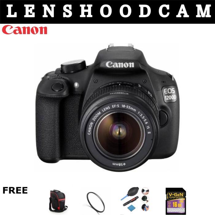 harga Kamera canon 1200d kit 18-55 is ii kamera canon 1200d paketan Tokopedia.com