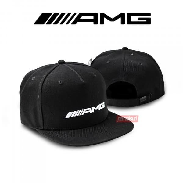 Foto Produk Mercedes Benz Flat Brim Cap AMG Black│Topi Snapback AMG Original dari PERMAISURI