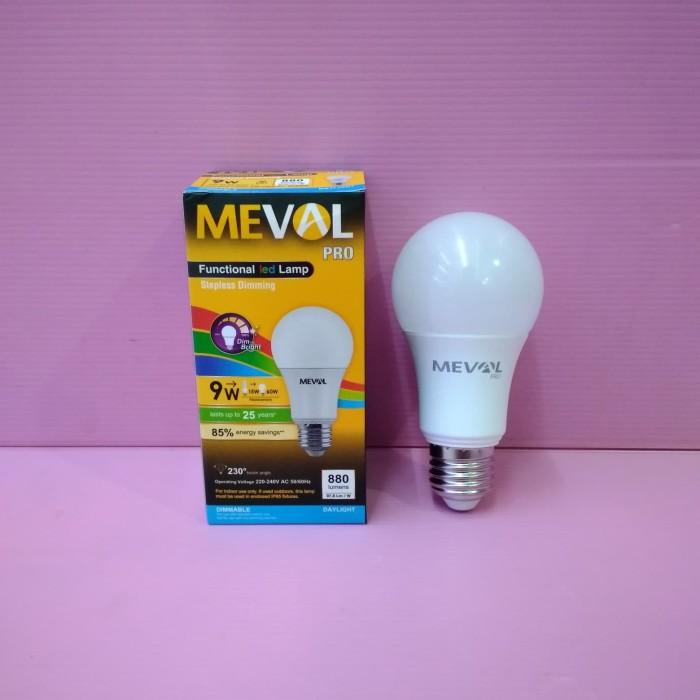 Jual Meval/lampu led bisa dimer 9w putih/3 step lampu ...