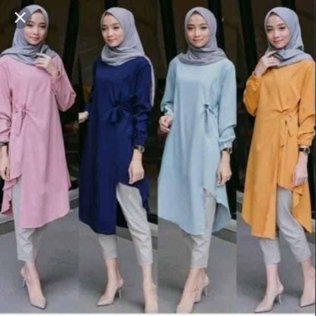 Jual Lidya Tunik Baju Atasan Wanita Muslimah Kekinian Modern Baju Kerja Kota Bandung Rafiera Tokopedia
