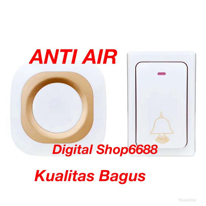 Foto Produk Bel Anti Air Bell Pintu Pagar Rumah Wireless Waterproof 1 Receiver dari digital shop6688