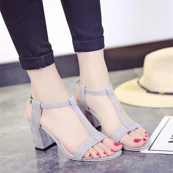 Foto Produk summer heels tali - Abu-abu, 37 dari efraim shoes