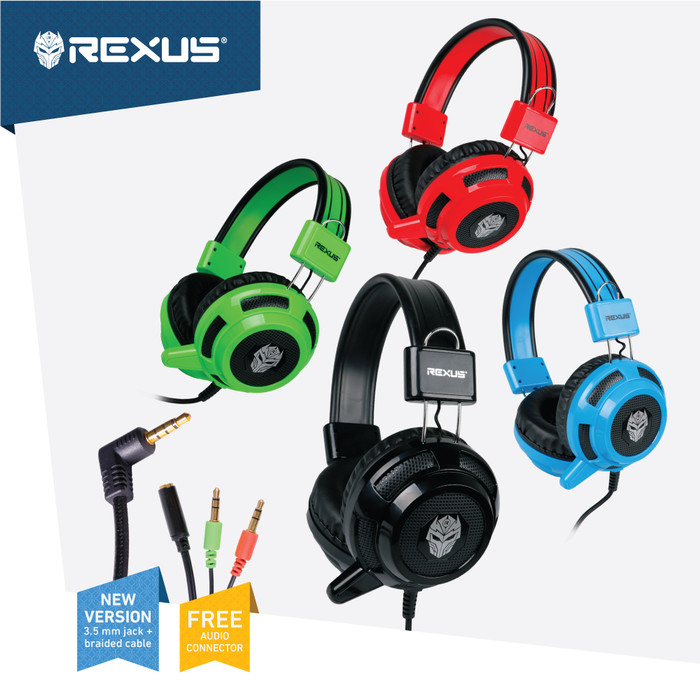 Rexus headset gaming vonix f26 - green onejack