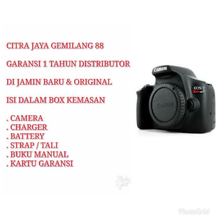 Jual Canon Eos Rebel T6 Body Only Black Dki Jakarta Citra Jaya Gemilang 88 Tokopedia