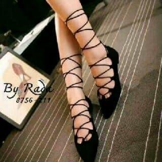 Foto Produk flat shoea tali - Hitam dari efraim shoes
