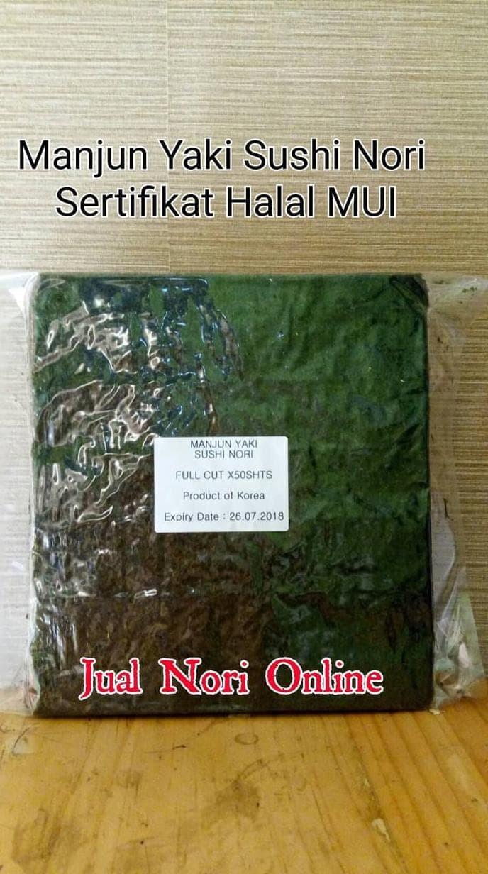 Jual Yang Terbaru Manjun Yaki Sushi Nori 50S Lembaran Rumput Laut Kering Jakarta Barat Janitra Stall