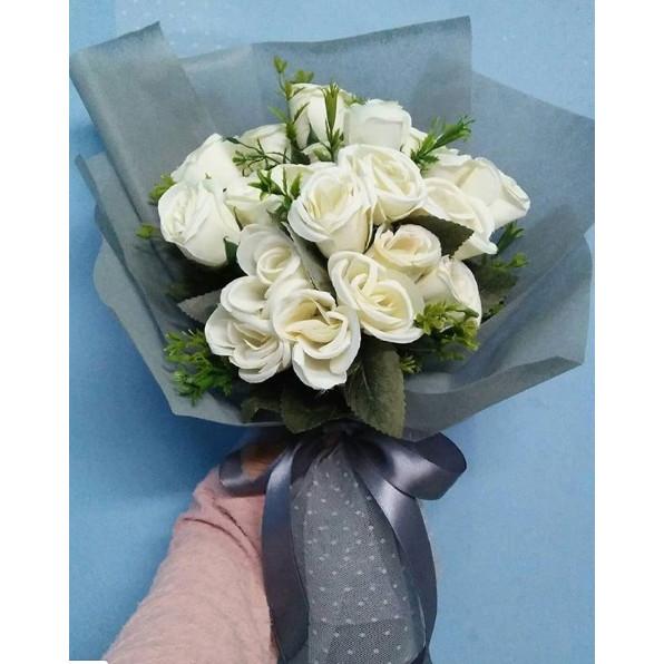 Jual Buket Bunga Mawar Putih Kab Purworejo Frista Agustin Tokopedia