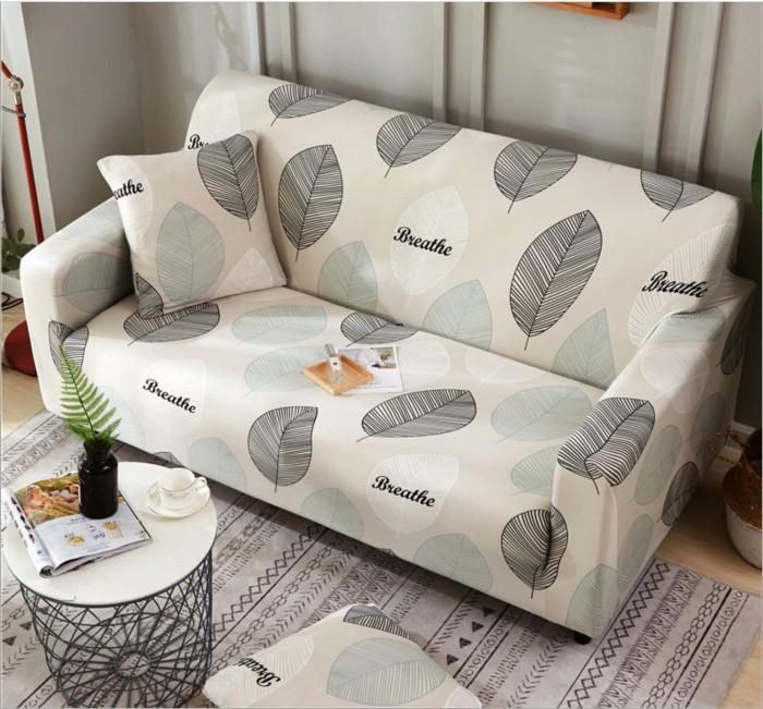Jual Elastic Sofa Cover Pattern Sarung Penutup Sofa Elastis Stretch Corak Leaf 1 Seater Dki Jakarta Et Felicel Tokopedia