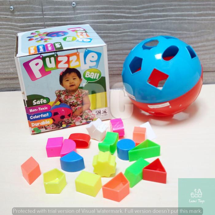 Foto Produk PUZZLE BALL | BOLA PINTAR Mainan Edukasi Blocks Puzzle Ball dari Lumi Toys