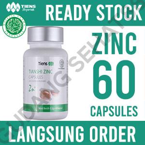 Foto Produk Tiens / Tianshi Zinc Capsules Isi 60 Kapsul   Penggemuk dari GudangSehat88