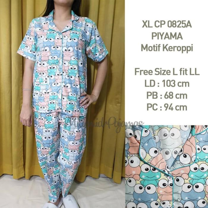Foto Produk Baju Tidur Keroppi CP Katun Jepang Piyama Wanita Warna XLCP 0825 - Toska Pastel dari Millen Collection