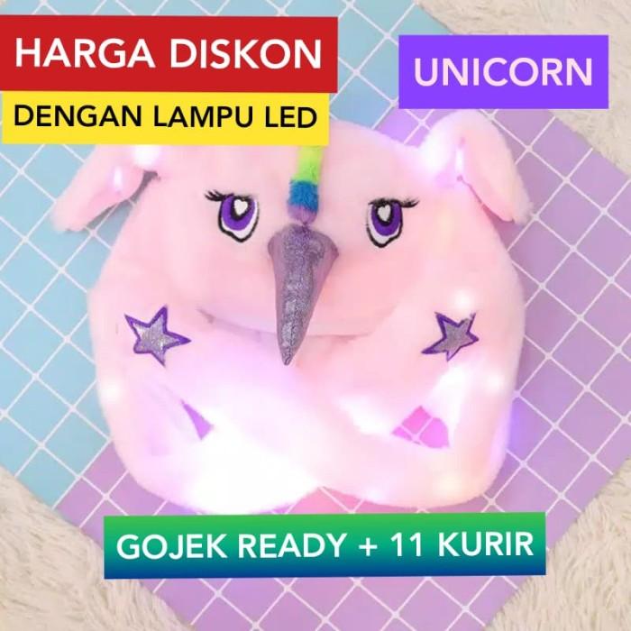 Jual Topi Kelinci Bergerak Telinga Kelinci Bergerak Topi Karakter Anak Led Unicor Pink Kota Bekasi Elite Importir Tokopedia