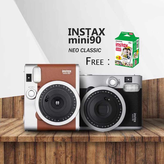 Jual Kamera Fujifilm Instax Polaroid Mini 90 Neo Classic Brown