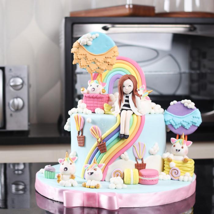 Jual Kue Ulang Tahun Unicorn Anak Cewek Mohon Baca Keterangan Jakarta Barat Stelete Cake Tokopedia