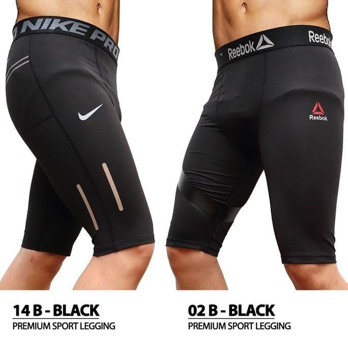Jual New Premium Celana Legging Sport Pendek Cowok Pria Gym Fitness Jakarta Barat Baim Rafi Tokopedia