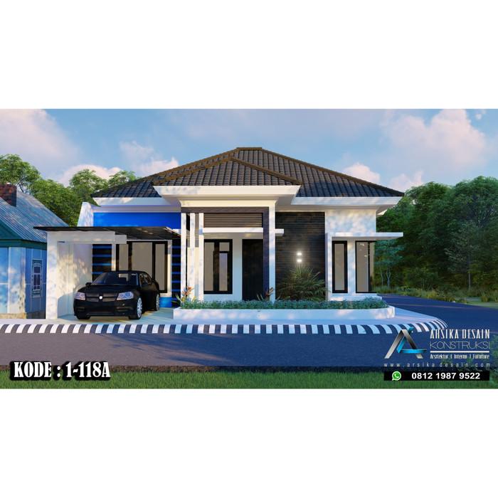 Desain Rumah Minimalis Ukuran 9x12  jual desain rumah uk 11 x 15 m kode 1 118a arsika desain jakarta timur arsikadesain tokopedia