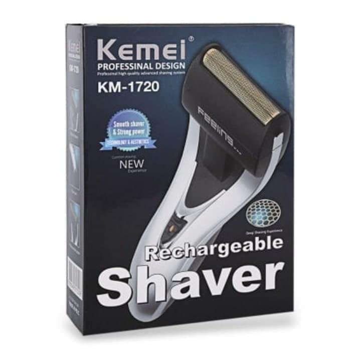 Foto Produk Kemei KM 1720 Alat cukur kumis dan jenggot charger / Shaver KM-1720 dari DKIJAYA