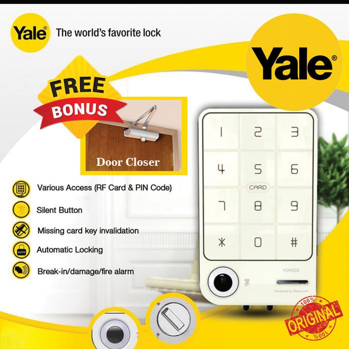 harga Kunci digital door lock yale ydr 333 mini akses kartu Tokopedia.com