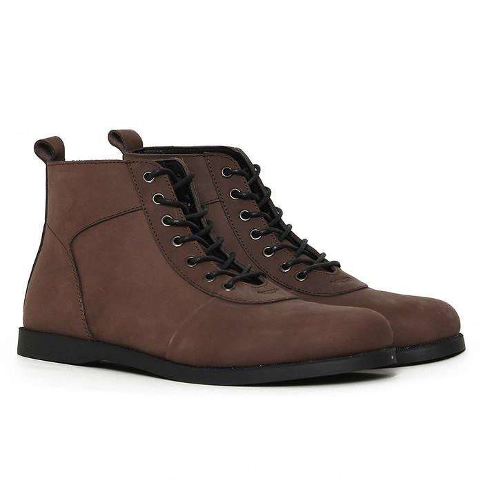 Foto Produk Sepatu Boots Kulit Asli - Vigos Potter Darkbrown - 39 dari VIGOS COMPANY